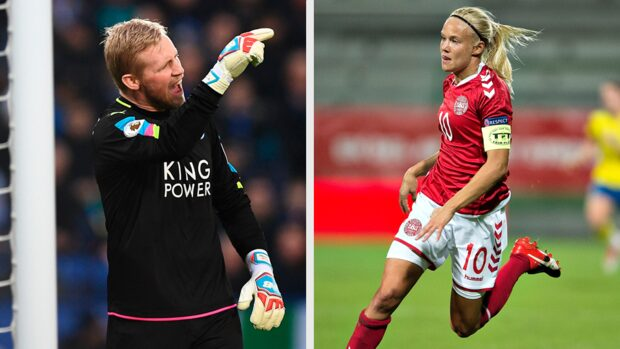 Kasper Schmeichel og Pernille Harder a legjobb labdarúgók Dániában 2018-ban.