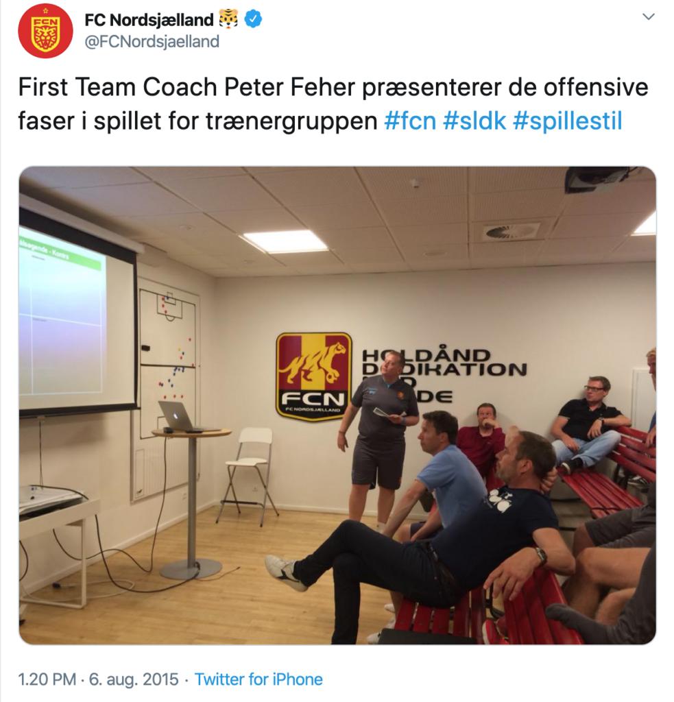 Fehér Péter munkában az FC Nordsjaellandnál.