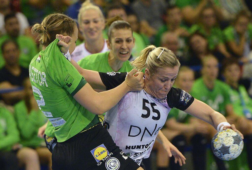 Heidi Löke a Ferencváros ellen. Fotó Ilyés Tibor MTI