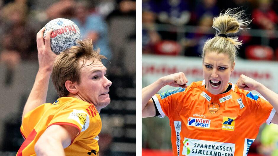 Mathias Gidsel (GOG) és Nycke Groot (Odense). Fotó Ritzau Scanpix