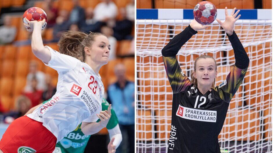 Bambusa Liga két profilja a Viborgban játszó Kristina Jörgensen és Anna Kristensen Fotó: Ritzau Scanpix