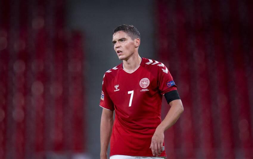 A dán válogatott Robert Skov tesztje lett pozitív. Fotó? liselotte sabroe © Scanpix