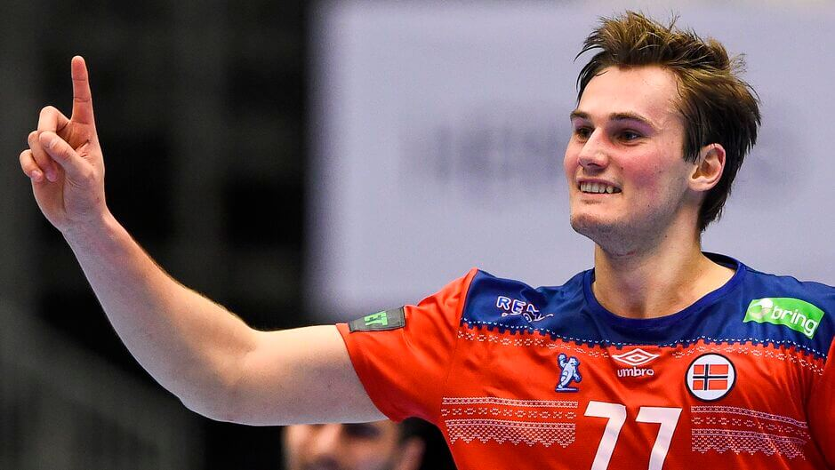 Magnus Abelvik Rød nem játszik Egyiptomban a világbajnokságon. Fotó: Jonathan Nackstrand / Ritzau Scanpix