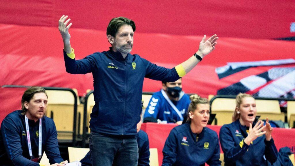 Thomas Axner a svéd női kézilabda-válogatott szövetségi kapitánya természetesen csalódását fejezte ki a sorsolás után. Fotó: Henning Bagger