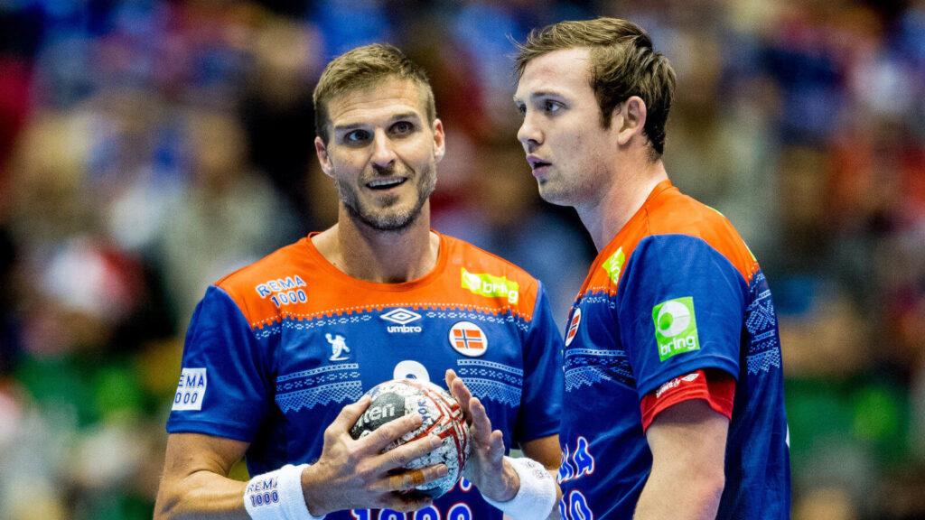 Nézők előtt játszhat a Világbajnokságon Bjarte Myrhol és Sander Sagosen.Fotó Vegard Wivestad Grøtt BILDBYRÅN