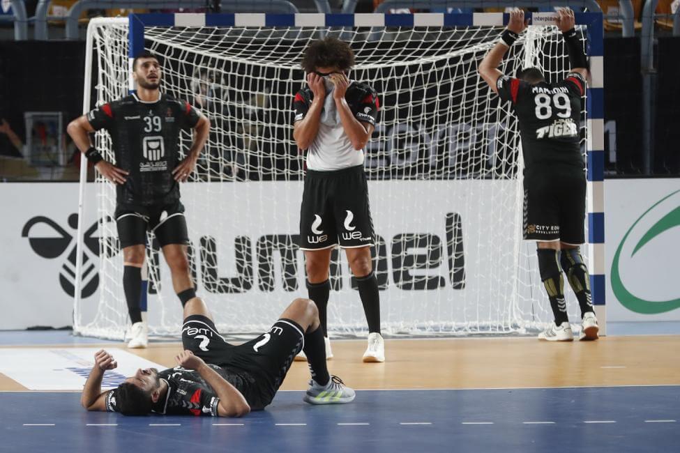 Az egyiptomi csapat a mérkőzés végén. Fotó: IHF.info