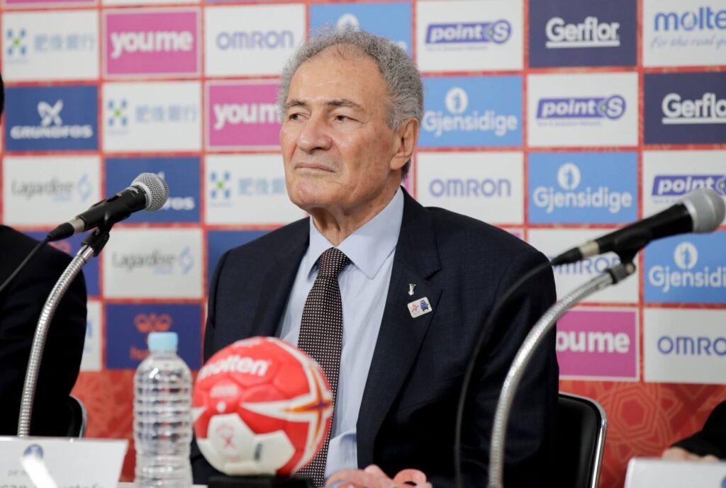 Hassan Moustafa IHF elnöke Fotó: Vidar Ruud / NTB