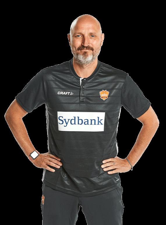 Ulrik Kirkely az Odense vezetőedzője. Fotó: odensehaandbold.dk