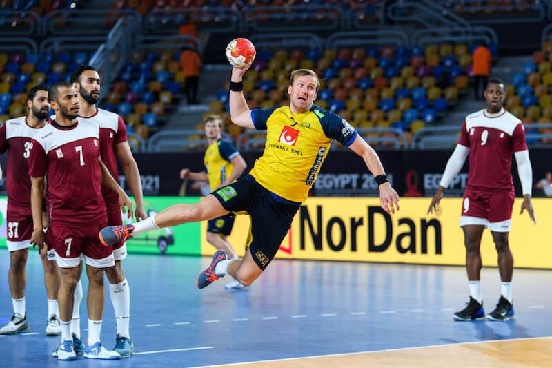 A svéd válogatott beállósa Max Darj is az Aalborg játékosa lehet. Fotó:  Mathias BergeldBildbyrån