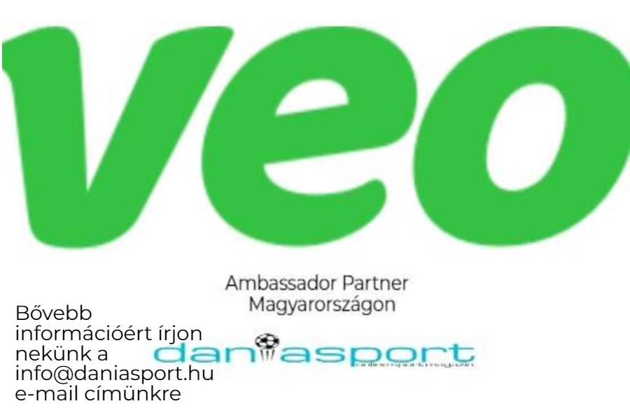 A dán Veo cég magyarországi partnere a Dániasport.hu.  Elérhető áron mérkőzés és játékoselemzés nem csak a legnagyobb klubok számára. Írjon nekünk bártan még ma! További információ :  info@daniasport.hu