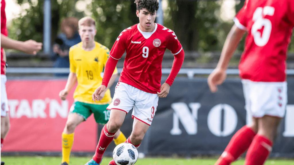 Wahid Fagir a dán U-21 válogatott 17 éves játékosa. Fotó: Fredericiaavisen.dk