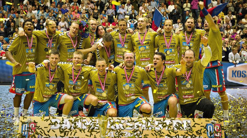 Az AG Koppenhága 2012-ben dán bajnok lett. Játszottak a Bajnokok ligája négyes döntőjében is. Fotó : Henning Bagger / Ritzau Scanpix