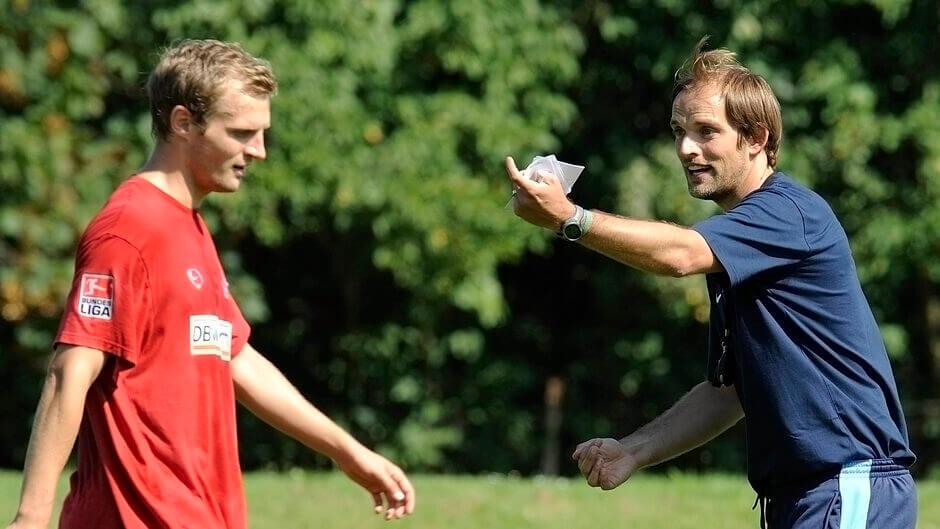 Bo Svensson és Thomas Tuchel. Fotó: Thomas Lohnse /  Scanpix Denmark