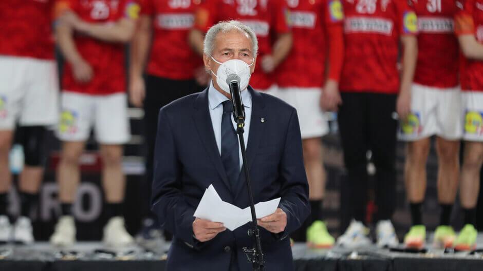 Hasszan Musztafa 2000 óta az IHF elnöke. Fotó: Mohamed Abd El Ghany / Ritzau Scanpix