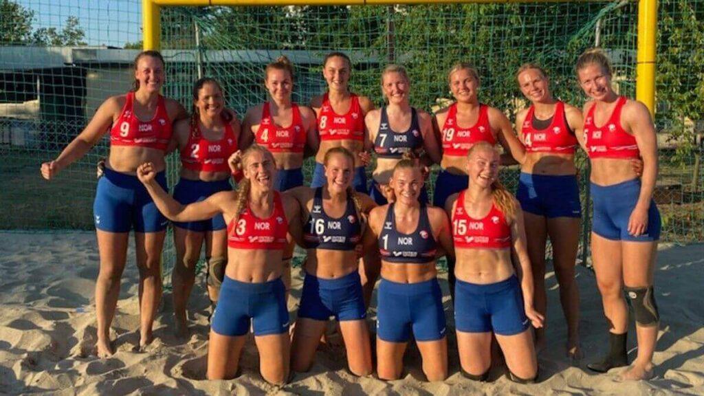 A norvég női strandkézilabda-válogatott. Fotó: Handball.no